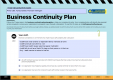 Example - Business Continuity Plan